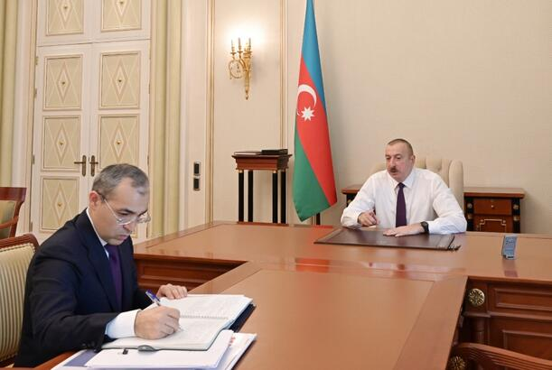 President Ilham Aliyev received minister of economy